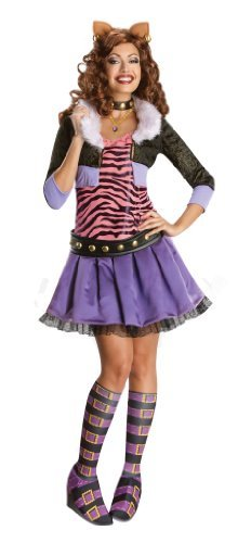 Monster High Costumes 13 Wishes (Monster High Secret Wishes Deluxe Clawdeen Wolf Fancy Dress Costume (Women UK Size: 12-14) by JADEO)