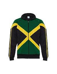 Authentic Jamaican Long Sleeved, Reggae Zip Up Jacket - Unisex (Black, Green, Yellow)