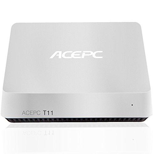 Mini PC ACEPC T11 Fanless Mini Desktop Computer Windows 10 64-bit Intel Atom x5-Z8350 Processor up to 1.92 GHz,2GB/32GB,Support Dual Band WiFi/BT 4.0/Dual Output – HDMI/VGA/4K HD,SATA for 2.5 Inch HDD