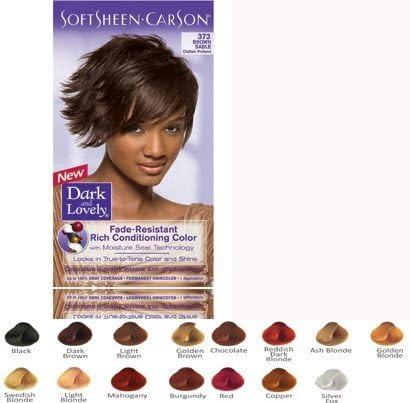 Oscuro y Lovely 373 Marta marrón pelo color tinte líquido ...