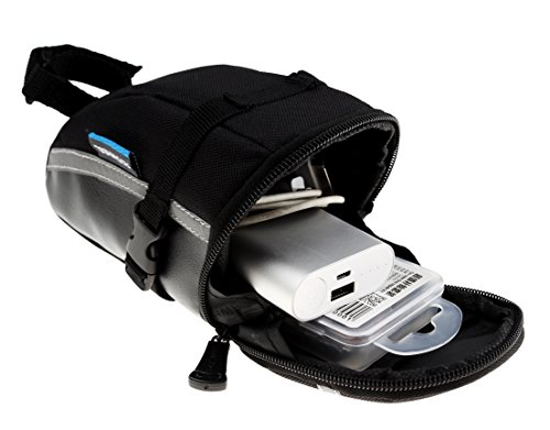 Roswheel 13196 1.2L Capacity Bike Saddle Bag Bicycle Under Seat Pack Cycling Accessories Pouch, Blac
