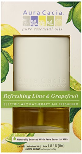 - Electric Aromatherapy Air Freshener Refreshing Lime and Grapefruit by Aura Cacia - 0.47oz.
