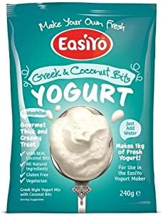 Easiyo Greek & Coconut Premium Yoghurt Mix 240g (Pack of 6)