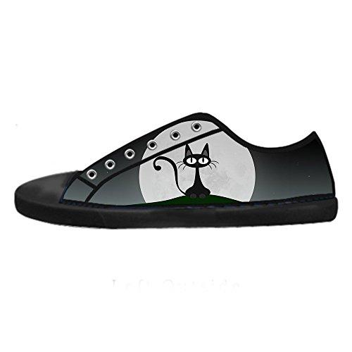 Custom Gatto del fumetto Womens Canvas shoes I lacci delle scarpe scarpe scarpe da ginnastica Alto tetto Nuevo Estilo De La Moda De Aberdeen 2018 Precio Barato Unisex De Taller Para La Venta EyMkMF43