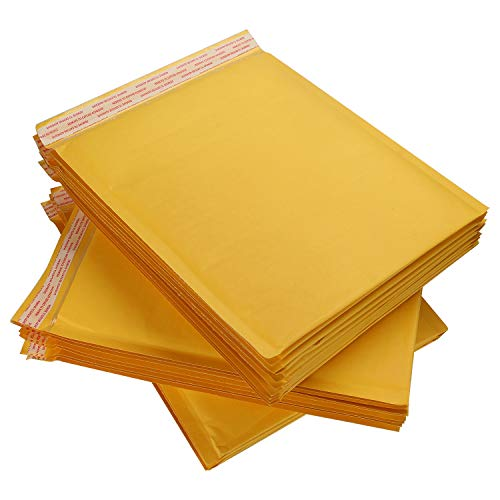 25 Pack 10x12.5 Inch Kraft Bubble Mailers Self Seal, CBTONE Padded Envelopes Waterproof Bubble Envelopes Shipping Envelopes Mailers10