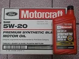 Motorcraft Sae 5w20 Synthetic Blend Motor Oil