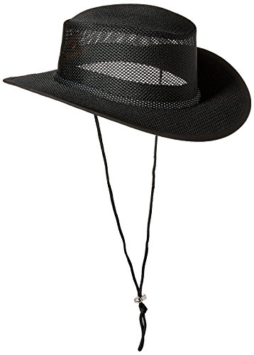 Stetson Men's Mesh Covered Hat, Black, Medium