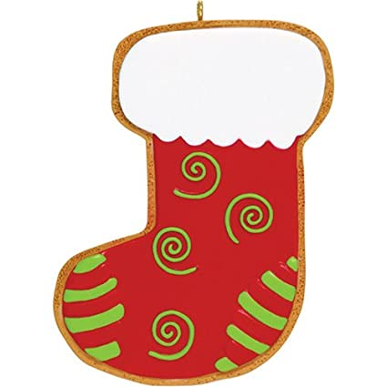 Amazon Com Personalized Stocking Cookie Christmas Ornament