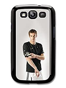 AMAF ? Accessories Andy Murray Serious Black Scottish Tennis Player case for Samsung Galaxy S3