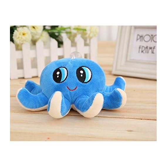 Skkylofts Cute Octopus Soft Stuffed Toy Sea Animal Fish Kids Baby Birthday Gift (18cm)