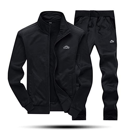 - MAGNIVIT Men's Casual Tracksuit Long Sleeve Gym Training Sweat Suits Black