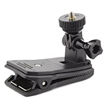 Hat Clip Backpack Mount 360 Degree Rotation for Sony Action Cameras Replay XD GoPro HD Hero 2 3 4 Drift HD Ghost Veho Muvi K2 Pro