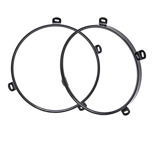 - SKTYANTS 7 inch Headlight Ring Bracket Mounting Bezel for Wrangler JK 2007-2018 (Black)