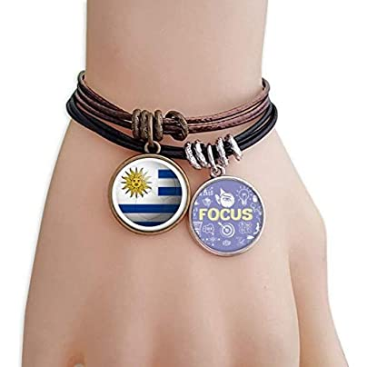 master DIY Uruguay National Flag Soccer Football Bracelet Rope Wristband Force Handcrafted Jewelry Estimated Price -