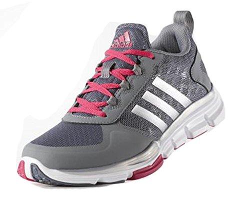 Adidas Performance Speed â??â??Trainer 2 W Calzado, Negro / metálico de carbono / blanco, 5 M US Grey/Silver/Pink