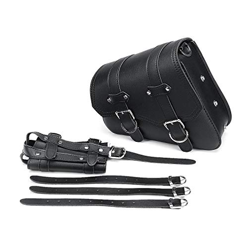 ANDTUN-bike-pack-accessories Left Right Universal PU Leather Motorcycle Saddlebag for Honda Suzuki Kawasaki Yamaha,Left