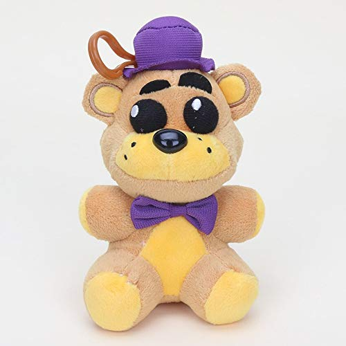 papeo FNAF Plushies 5 inch Small Plush Figure Toy Huggable Mini Stuffed Toys Doll Gift Christmas Halloween Birthday Gifts Cute Collection Collectible Fazbear for Kids Adults]()