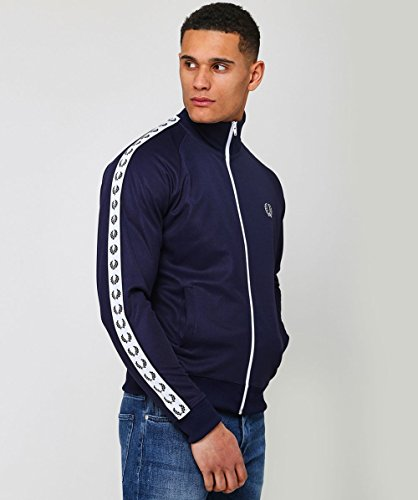 Laurel Carbone Track Fred Da Perry Blu Nastro Jacket 7pqnSI
