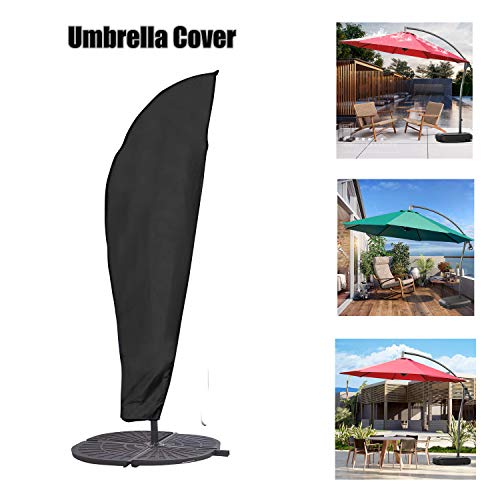 (KGYA Parasol Cover Patio Umbrella Cover, Outdoor Market Umbrella Protective Canopy Cover, Fit for 7-11 Feet)