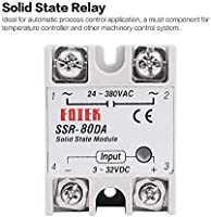 Color:White Solid State Relay DC-AC 10A 25A 40A 60A 80A 100A 12V 3-32V DC to 220V 24-380V AC Load Single Phase SSR for Temperature Control