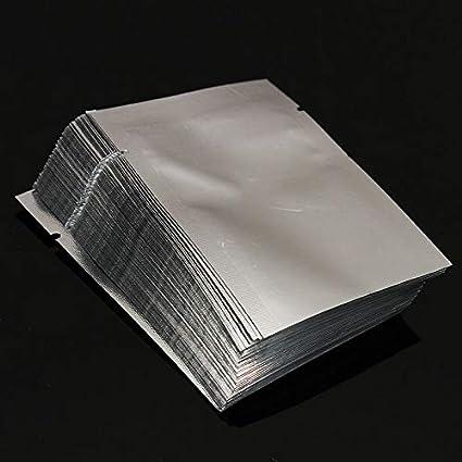 Lophome Lot de 100 sachets en Mylar Transparent avec Fermeture /éclair refermables pour /épices poudres 5x7CM