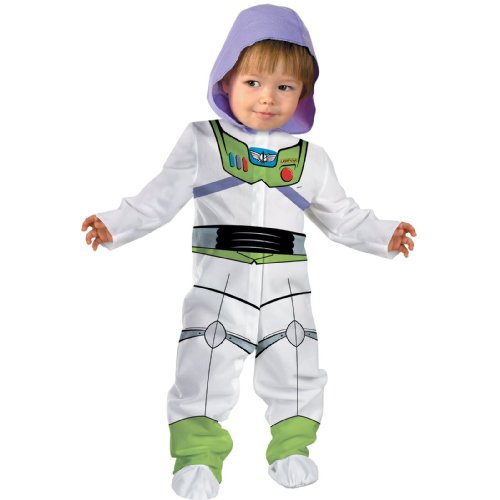 Disguise Baby Boy's Disney Pixar Toy Story and Beyond Buzz Lightyear Classic Costume, White, 0-6 (Buzz Lightyear Costumes For Boys)