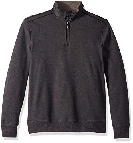 (Van Heusen Men's Big and Tall Flex Long Sleeve 1/4 Zip Soft Sweater Fleece, Black 2X-Large)