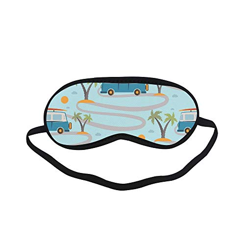All Polyester Happy Camper Car Inspirational Quote Caravan Retro Style Travel Graphic Sleeping Eye Masks&blindfold By Simple Health With Elastic Strap&headband For Adult Girls Kids And For Home Travel