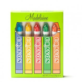 Milk Chocolate Crayons Madelaine Chocolate 3 Boxes of 5