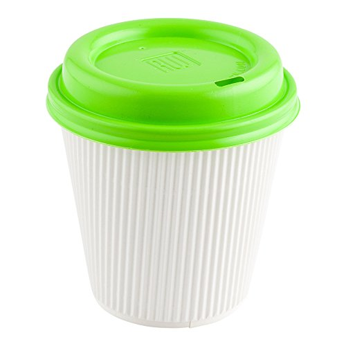 500-CT Disposable Lime Green Lid for Coffee and Tea Cups ? Fits 8-OZ, 12-OZ, and 16-OZ Cups: Perfect for Coffee Shops, Juice Shops, and Restaurant Takeout ? Recyclable Plastic Cup Lid ? Restaurantware