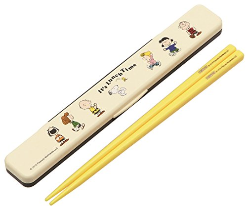 SKATER Chopsticks w/ Case Peanuts Snoopy Lunch Time ABC3 ...