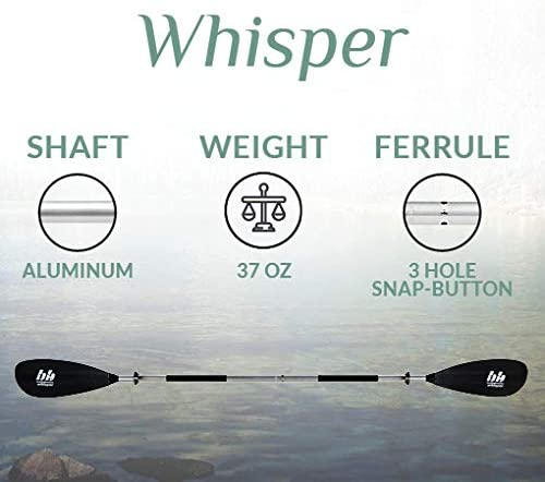 BENDING BRANCHES Whisper 2-Piece Snap-Button Recreational Kayak Paddle
