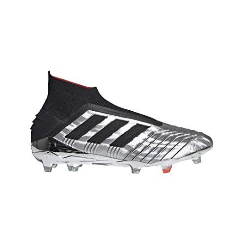 adidas Men's Predator 19+ FG Soccer Cleats (9.5M, Silver/Black)