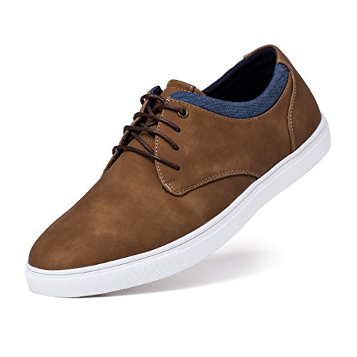 Jivana Men's Sneaker Flat Casual Shoes Black/Brown,Tan,12 M US