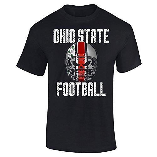 - Ohio State Football Skull Helmet Graphic T-Shirt (2XL, Black)