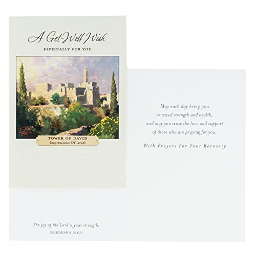 DaySpring Get Well Greeting Cards w Embossed Envelopes - Thomas Kinkade, 12 Count Photo #3