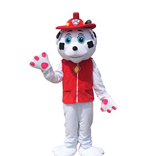 k228 Paw Patrol Mascot Costume Marshall Mascot Costume -