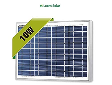 Loom Solar 10 Watt - 12 Volt Solar Panel for Mobile Charging
