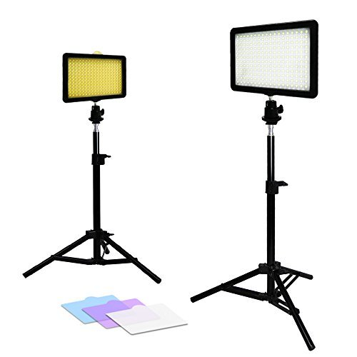 Julius Studio 2x New Premium 216 PCS LED Light for Digital Camera/Camcorder Video Table Top Photo Studio Lighting Stand Kit, JSAG156
