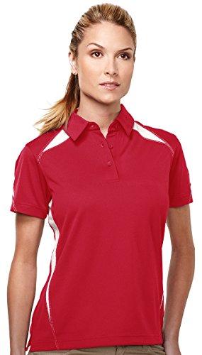 Polo Performance Birdseye Red - Tri-Mountain Performance Polyester Birdseye Mesh Polo Shirt - KL202
