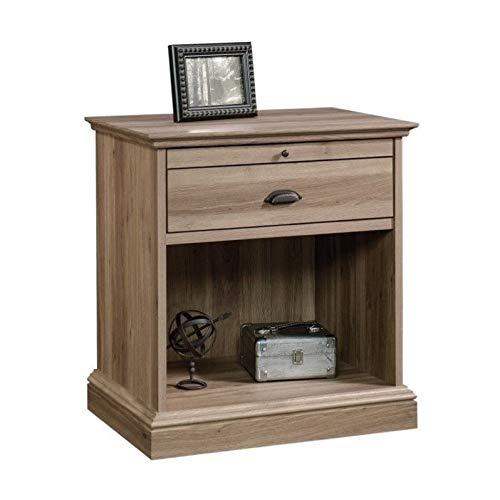 Sauder Barrister Lane Night Stand, Salt Oak finish (Collections Lane Bedroom Furniture)