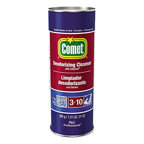 Comet 32987CT Cleanser with Chlorinol, Powder, 21 oz Canister (Case of 24)