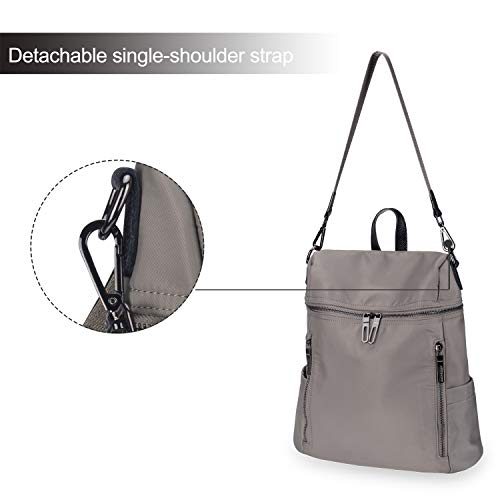 taupe Daypack Lady Backpack Fashion Shoulder Nylon for Girls 1 Backpack Travel Purse Women LEADO School Bag ZAwxqUw1