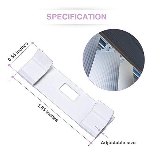 KLATIE 50 Pieces Vertical Blind Repair Vane Savers, Blinds & Shades Vertical Blinds Replacement slats, Window Blind Repair Tabs for Vertical Blinds, Sliding Door Window Blinds