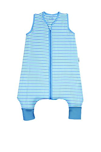 SlumberSafe Summer Sleeping Bag with Feet Early Walker 1.0 Tog, Blue Stripes, 12-18 Months by Slumbersafe