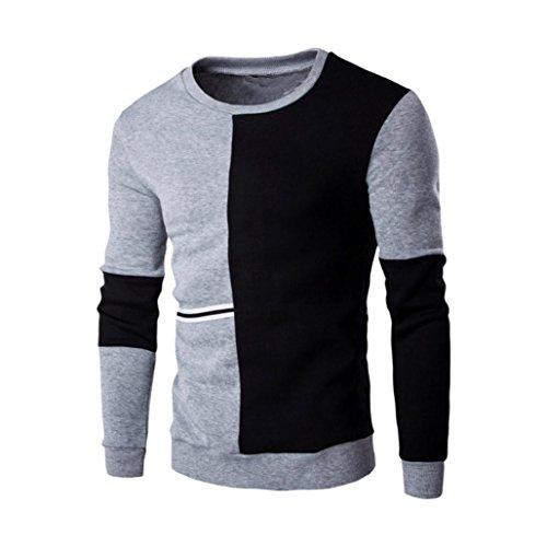 Forthery ComfortBlend Crewneck Sweatshirt (Tag L= US M, Gray)