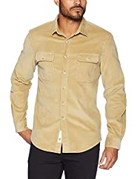 Men's Regular Fit Stretch Corduroy Shirt