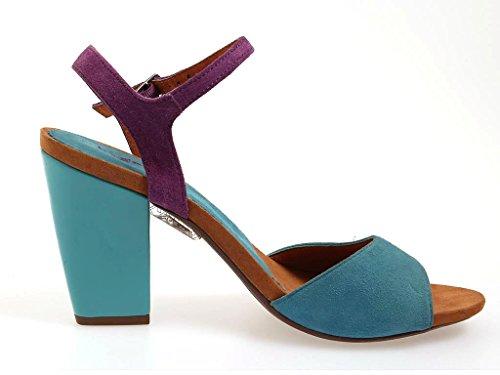 Bugatti Sandalias De Gamuza W9188 Sandalias Zapatos Cuero Mujer Zapatos De Verano Azul