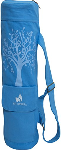 Fit Spirit Tree of Life Exercise Yoga Mat Bag w/ 2 Cargo Pockets, Assorted Colors