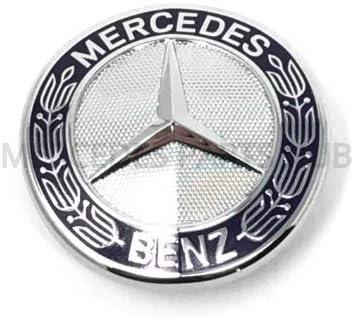 Genuine For Mercedes Benz Hood Flat Laurel Wreath Badge Emblem